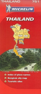 Michelin Map Thailand  by  Michelin