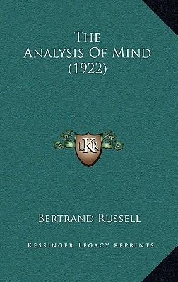 The Analysis of Mind (1922)  by  Bertrand Russell