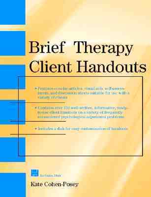 Brief Therapy Client Handouts Kate Cohen-Posey