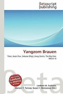 Yangzom Brauen NOT A BOOK