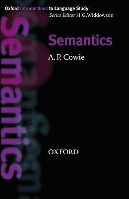 Semantics Anthony Paul Cowie
