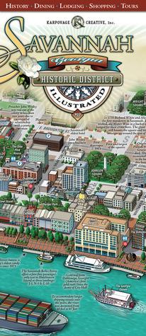 Savannah Historic District Illustrated Map  by  Michael J. Karpovage