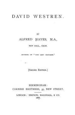 David Westren Alfred  Hayes