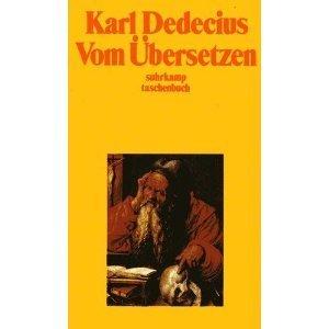 Vom Übersetzen  by  Karl Dedecius