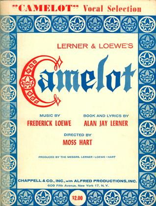 Camelot Vocal Selection  by  Alan Jay Lerner