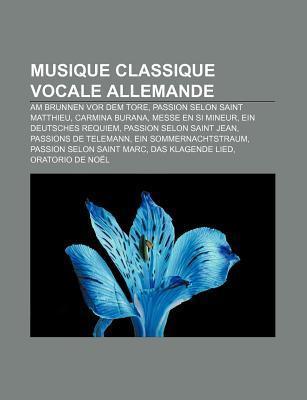 Musique Classique Vocale Allemande  by  Livres Groupe