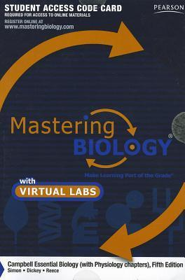Masteringbiology(r) with Masteringbiology(r) Virtual Lab Full Suite -- Standalone Access Card -- For Campbell Essential Biology (with Physiology Chapt Eric J. Simon
