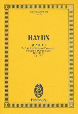 String Quartet Op. 76/4 Bfl Maj Joseph Haydn