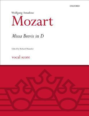 Missa Brevis in D K.194: Vocal Score  by  Wolfgang Amadeus Mozart
