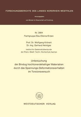 Untersuchung Der Bindung Hochtonerdehaltiger Materialien Durch Das Spannungs-Deformationsverhalten Im Torsionsversuch Wolfgang Kr Nert