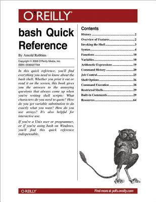 Bash Quick Reference Arnold Robbins