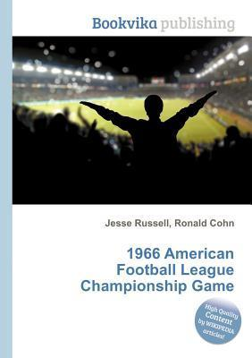 1966 American Football League Championship Game Jesse Russell