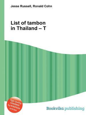 List of Tambon in Thailand - T Jesse Russell