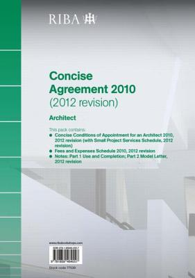 Riba Concise Agreement 2010 (2012 Revision): Architect (Pack of 10)  by  Riba