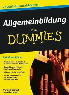 Allgemeinbildung Für Dummies Winfried Gopfert