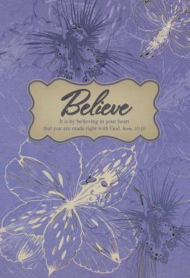 Believe (Purple) - Large Hc Journal Christian Art Gifts