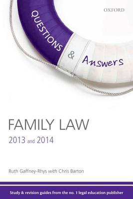 Family Law, 2013 and 2014. Ruth Gaffney-Rhys