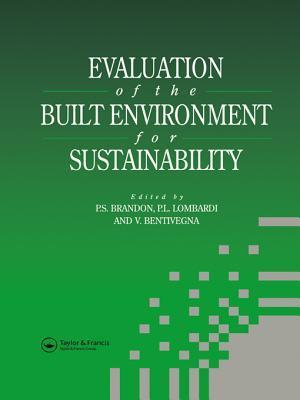 Evaluation of the Built Environment for Sustainability Vicenzo Bentivegna