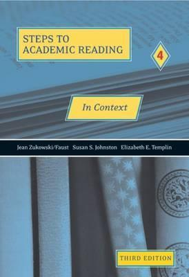 In Context: Developing Academic Reading Skills, Third Edition (Student Book)  by  Jean Zukowski/Faust