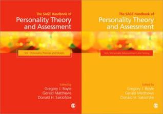 Handbook Of Personality Measurements And Assessment (Volume 1 + 2) Gregory J. Boyle