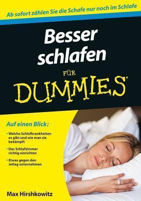 Besser Schlafen Fur Dummies Max Hirshkowitz