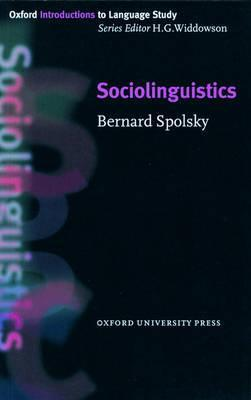 Sociolinguistics Bernard Spolsky