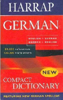 Harrap German-English/English-German Compact Dictionary  by  Harraps Publishing
