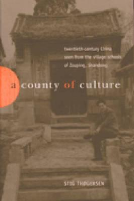 A County of Culture: Twentieth-Century China Seen from the Village Schools of Zouping, Shandong  by  Stig Bjarka Thogersen