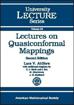Lectures on Quasiconformal Mappings Lars Valerian Ahlfors