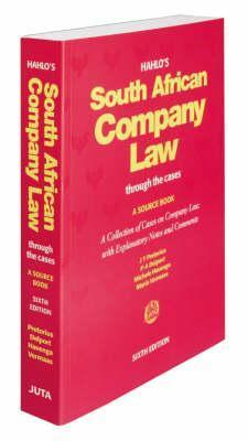 Hahlos South African Company Law Through the Cases: A Source Book  by  J.T. Pretorius