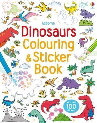 Dinosaurs Sticker and Colouring Book  by  Sam Taplin
