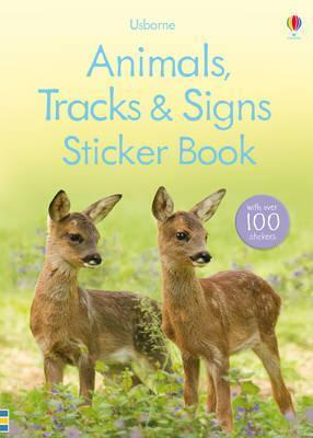 Animal Tracks and Signs Sticker Book Leutscher