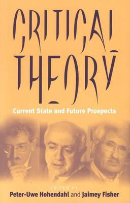 Critical Theory: Current State and Future Prospects  by  Peter Uwe Hohendahl