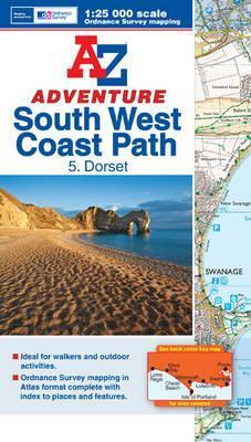 SW Coast Path Dorset Adventure Atlas  by  Geographers A-Z Map Company