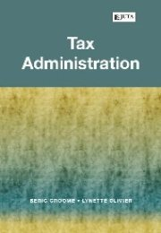 Tax Administration Beric J. Croome