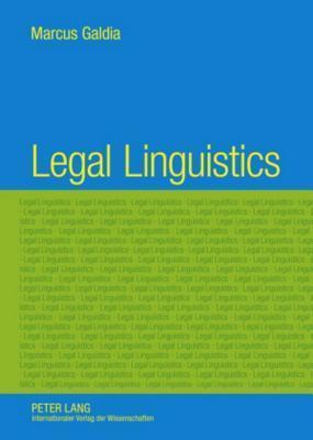 Legal Linguistics Marcus Galdia