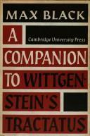 A Companion to Wittgensteins Tractatus  by  Max Black