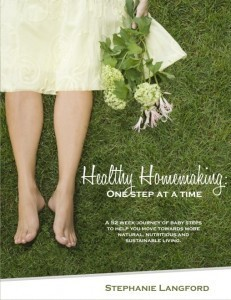 Healthy Homemaking: One Step at a Time  by  Stephanie Langford