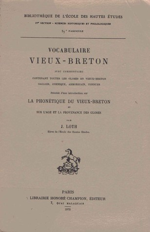 Questions de Grammaire Et de Linguistique Brittonique  by  Joseph Marie Loth