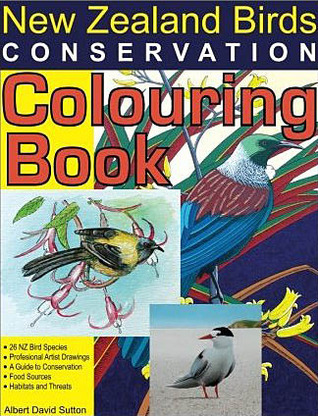 New Zealand Birds Conservation Colouring Book Albert David Sutton