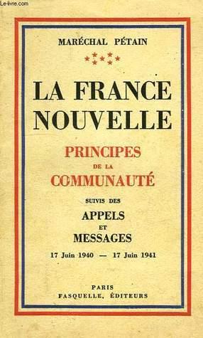 La France nouvelle Maréchal Pétain