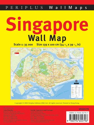 Singapore Wall Map Rolled: Rolled Flat Sheet Periplus Editors