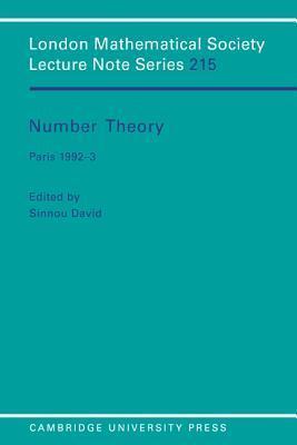 Number Theory: Paris 1992 3 Sinnou David