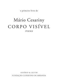Corpo Visível Mário Cesariny