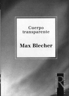 Cuerpo transparente  by  Max Blecher