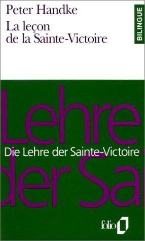 La leçon de la Sainte-Victoire Peter Handke
