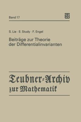 Geometrie Der Beruehrungstransformationen Sophus Lie