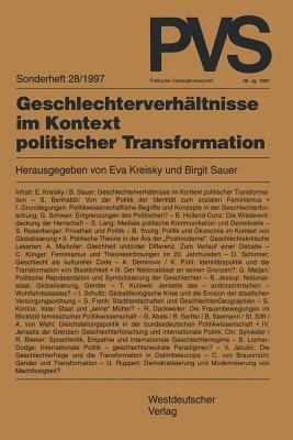 Geschlechterverhaltnisse Im Kontext Politischer Transformation  by  Eva Kreisky