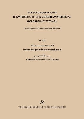 Untersuchungen Industrieller Gasbrenner Bernhard Naendorf