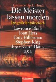 Die Meister lassen morden. Das große Krimilesebuch  by  Lawrence Block